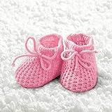 Baby Girl Booties - Tovaglioli a forma di scarpe, 33 x 33 cm, colore rosa