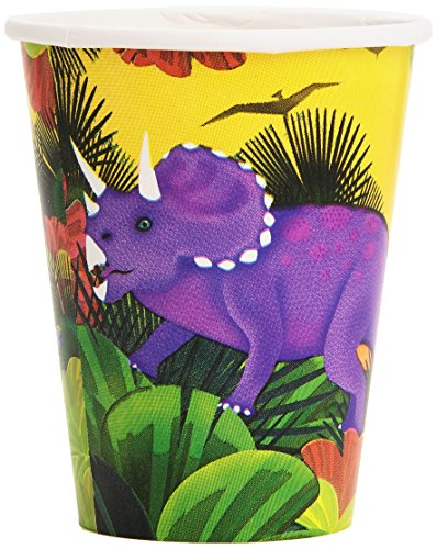 Amscan International Partybecher mit Dino-Motiv, 266 ()