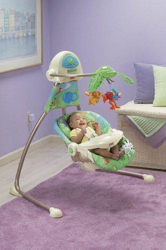 816aab510 Fisher-Price K6077 – hamaca electrica para bebé, diseño de selva - 2