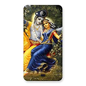 Gorgeous Radha Krishna Multicolor Back Case Cover for Canvas Play Q355