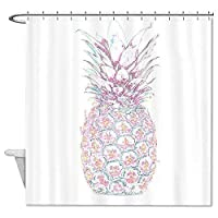 Setyserytu Shower Curtain with Hooks Cute Pineapple Pattern Polyester Waterproof Funny Decor Shower Curtain 60x72 inch