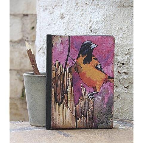 Store Indya, Handmade Sparrow Stampa Taccuino Rilegato diario ufficiale Realizzato per la scrittura di schizzo 50 fogli 100 pagine