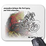Computer Accessories Anti-Friction Wristband Real Fun Dirt Bike Motocross Mousepad Mouse Pad 18X22