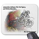 Real Fun Dirt Bike Motocross Mousepad Mouse Pad 18×22 cm