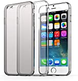 "iPhone 6S Case, TeckNet® [2-Pack] Slim Soft Gel TUP Textured Grip Case Cover 4.7"" (1 Crystal Clear + 1 Space Grey) For Apple iPhone 6 and iPhone 6S"