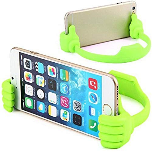 SR Global Universal Funny Cute Flexible Portable Mount Cradle Thumb OK Designed Stand Holder for Apple iPad Mini, iPhone, Smartphones and Android Mobile Phones and Tablets Model 21251