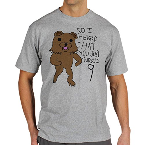 Meme Pedo Bear So I Heard Background Herren T-Shirt Grau