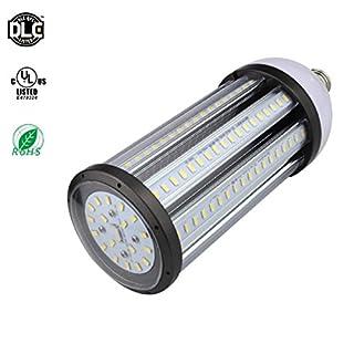 RDJM LED Maïs Ampoule, E27/E40100W 2700-7000K 12000lm 288x 5630SMD, Street Lumière LED, projecteur à 360°, pour Garage, Allée (Blanc 100W) [Classe énergétique A + +], E27