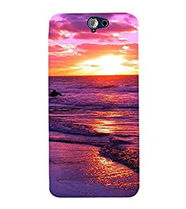 PrintVisa Travel Beach Sunset Design 3D Hard Polycarbonate Designer Back Case Cover for HTC One A9