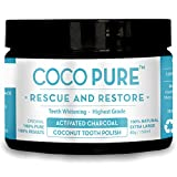 Coco Pure XL 80g Activated Coconut Charcoal Whitening Tooth Powder XL Natural Teeth Whitening 150ML/80Grams Manufactured in The UK