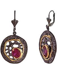 Shaze Black-Gold Red Trendz Earrings For Womens | Earrings For Girls | Earrings For Girls Fancy Party Wear | Earrings...