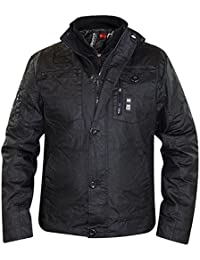 Crosshatch Mens Multi Pockets Army Style Plixxie Jacket