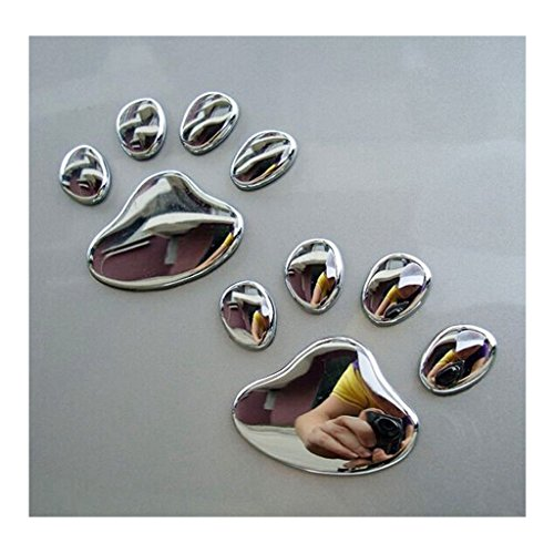 EHAO 10Pcs 3D Katze-Tatze-Hundeklaue-Selbstauto-LKW-Laptop iPad-Fenster-Wand-Motorrad-Dekor-Abziehbild-Aufkleber
