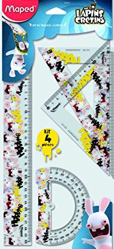 Maped Les Lapins Cretins 231015 Kit de Traçage 4 pièces