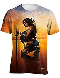 Wonder Woman Camiseta Modelo Landing Pose para Hombre kXCpubZm