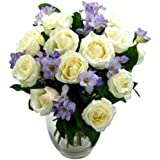 Clare Florist Breathtaking Amethyst Bouquet with FREE Delivery - Fresh Rose and Freesia Flowers Perfect for Birthdays, Anniversaries and Thank You Gifts
