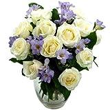 Clare fleuriste à couper le Souffle Améthyste Bouquet avec Livraison gratuite-Fresh Rose et de fleurs de freesia et idéal pour les anniversaires, cadeau de remerciement...