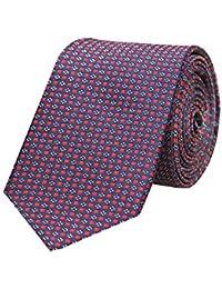 Tiekart Blue Formal Skinny Microfiber Necktie for Men