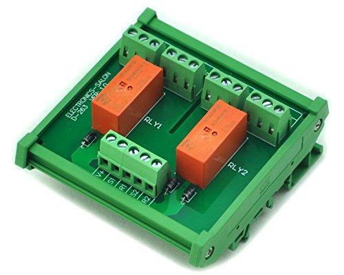Electronics-Salon Rail DIN/support Passif bi se verrouiller DPDT 8A, Module relais de puissance 12 V Ver.