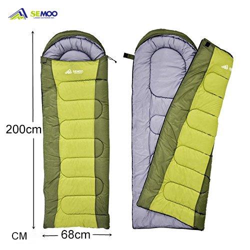 Outdoor-quilt (SEMOO Schlafsack 200x70cm, 3 Jahreszeiten Deckenschlafsack (von 5 bis 22 °C), Leichte Wasserdicht Sommerschlafsack, Für Outdoor Camping Wandern, Grün)