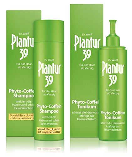 Plantur 39 Phyto-Coffein-Shampoo coloriertes Haar 250 ml + Phyto-Coffein-Tonikum 200 ml