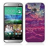 Coque HTC One M8, Fubaoda Populaire Disant Style Étui TPU silicone élégant et...