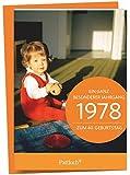 1978 - Ein ganz besonderer Jahrgang Zum 40. Geburtstag: Jahrgangs-Heftchen mit Kuvert