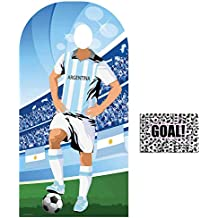 BundleZ-4-FanZ by Starstills Fan Pack - World Cup Football 2018 Argentina Stand-In Lifesize Adult Cardboard Cutout with 20cm x 25cm Star Photo