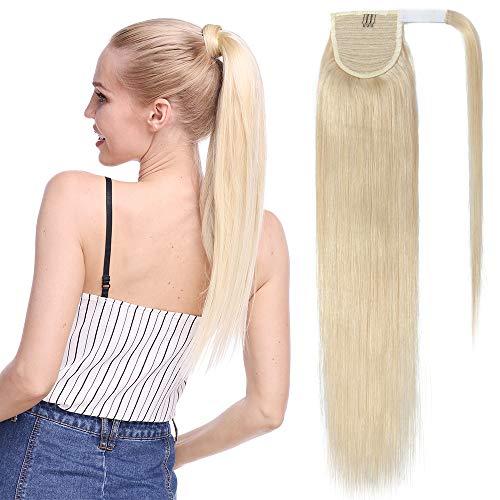 Remy Haarteile (TESS Pferdeschwanz Extensions Echthaar Ponytail Haarteil Clip in Extensions Echthaar Zopf Remy Haarverlängerung günstig 22