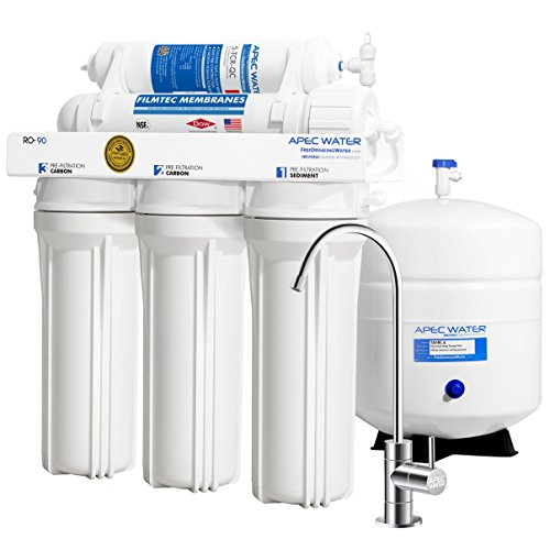 APEC Top Tier Supreme Certified High Flow 90 GPD Ultra Safe Reverse Osmosis Drinking Water Filter System (ULTIMATE RO-90)