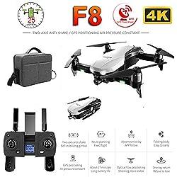 XuBa F8 Drone Profissionel avec caméra 4K HD Anti-tremblement à Deux Axes Anti-tremblement Auto-stabilisateur GPS Wi-FI FPV RC hélicoptère Quadrocopter Jouets 2 Batterie