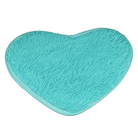 San Bodhi® Tapis antidérapant en forme de cœur de cuisine Salon salle de bain Tapis–Beige, bleu, Taille unique