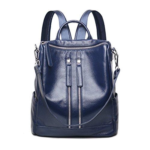 Mefly Leder Rucksack Travel Bag Lady Oxford neue Leder All-Match. blue