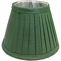 Better & Best 0210306 - Pantalla de lámpara de seda, tabla estrecha, de 30 cm, color verde oscuro