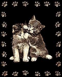 Tableau Scraper à gratter - Doré - 2 chats joueurs - Le p'tit créateur