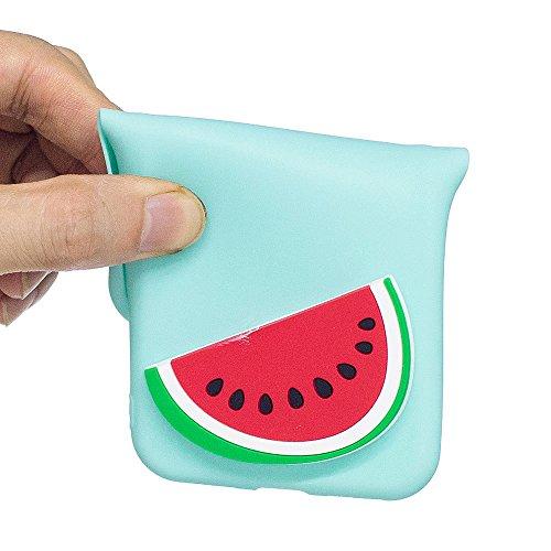 iPhone 7 Plus / iPhone 8 Plus Hülle, BENKER Hochwertigem Neu Kreativ 3D Karikatur Durable TPU Silikon Kratzfeste Stoßfest Rutschfeste Handyhülle - Erdbeere Wassermelone