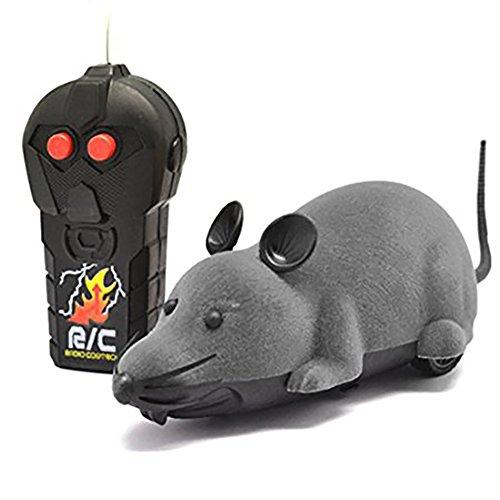 Électrique sans fil RC Télécommande Rat Jouets souris Pet Cat Jouets Souris Pour Animaux Enfants / Tricky par Creation® (gris)