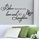 Kingko® ''BLESS'' New Letter Art Removable Home Vinyl Wall Window Stickers Door Decal Decor