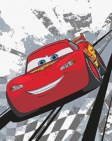 Cars Flash McQueen plaid couverture polaire 120x150 cm Fleece Blanket idée déco Disney