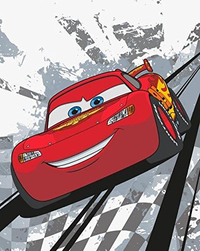 Cars Flash McQueen Fleece Decke 120 x 150 cm fleece Blanket Dekoidee Disney