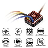 MMLC Hobbywing QuicRun Regler WP-1080-Brushed Crawler Waterproof 80A ESC for 1/10, 1/8 RC Car (A)