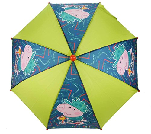 Peppa Pig Parapluie cannes, Green (Bleu) - PEPPA-454*