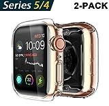 Yolin [2-Pack] Apple Watch Series 5 / Series 4 Schutzhülle, iwatch case Weiche Ultradünne TPU iwatch Displayschutz All-Around Hülle für Apple Watch Series 5 / Serie 4 44mm