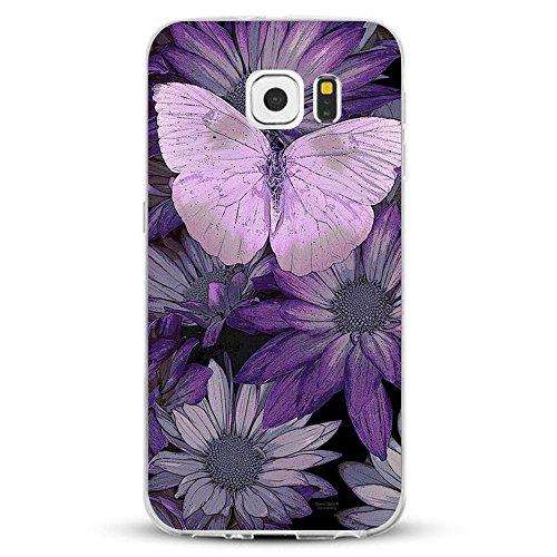 Pacyer Samsung Galaxy S7/S7 Edge Hülle Silikon Ultra dünn Transparent Handyhülle Durchsichtige Rückschale TPU Schutzhülle Case Cover Blume Kaktus Gold Rosa (7, Galaxy S7 Edge)