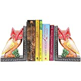 APKAMART Handcrafted Owl Bookend - Set of 2 - Book Holders cum Decoratives for Shelves, Table Decor, Home Decor and Gifts