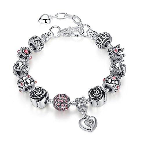 Morsun, bracciale da donna con charm, un affascinante gioiello di moda, ideale come regalo di compleanno
