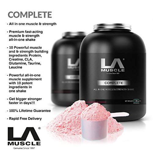la-muscle-complete-fraise-all-in-one-whey-protein-shake-puissant-whey-protein-poudre-fortifie-avec-g