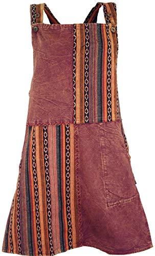 Guru-Shop Latzrock, Ethno Trägerkleid, Damen, Rostorange, Baumwolle, Size:XL (44), Kurze Röcke Alternative Bekleidung