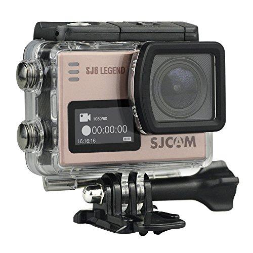SJCAM SJ6 Legend Rose 4K Actionkamera 16MP Touchscreen Dual-Display WLAN HDMI Wasserdicht Rosegold -