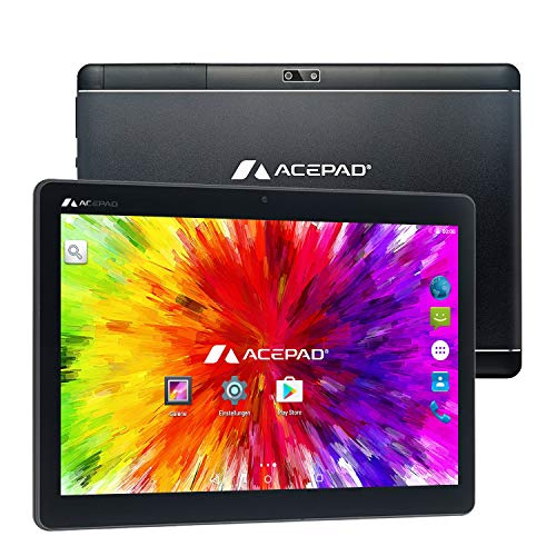 3G Tablet PC, 2GB RAM, 64GB Speicher, Dual-SIM, Android 7.0, IPS HD 1280x800, Quad Core CPU, WiFi/WLAN/Bluetooth, USB/SD (Alu-Schwarz) ()